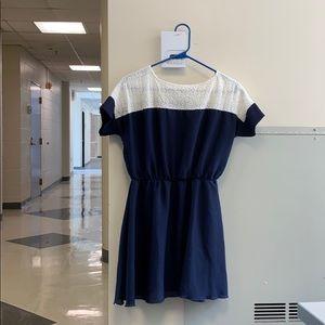 Dresses & Skirts - Women's Navy Short Sleeve Cute Dress